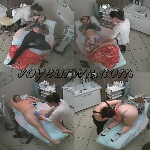 Hidden cam in the waxing saloon (Intimate Waxing 01-03)