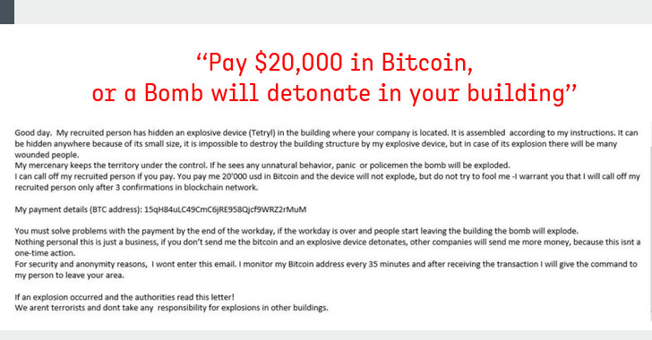 Fake Bomb Threat Emails Demanding Bitcoins Sparked Chaos Across US, Canada