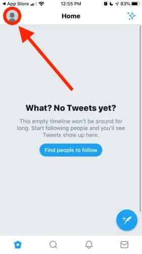 حذف حساب تويتر من الايفون