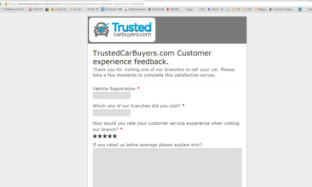 The Link that Trusted Car Buyers will send to Unhappy Customers so the details stay private