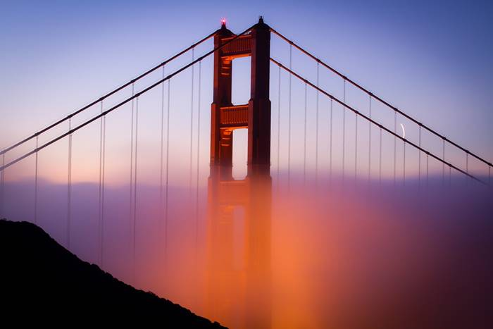 USA. Golden Gate Bridge. The main span - 1,280 m. (Christian Arballo)