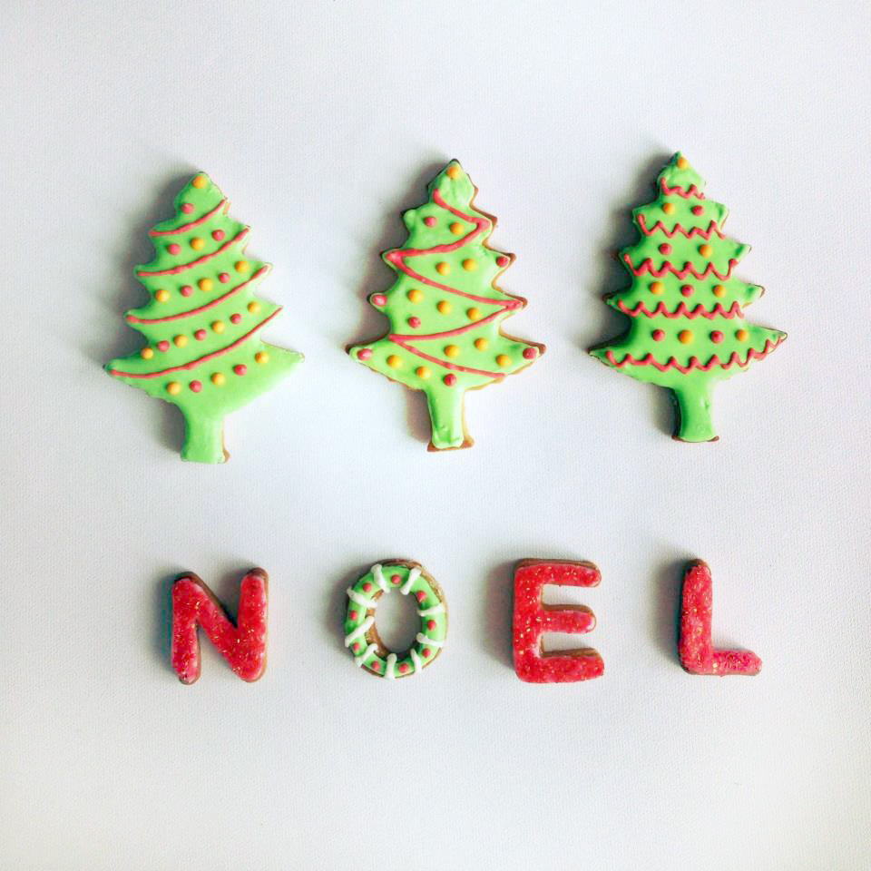 Christmas Tree Noel Gingerbread cookies