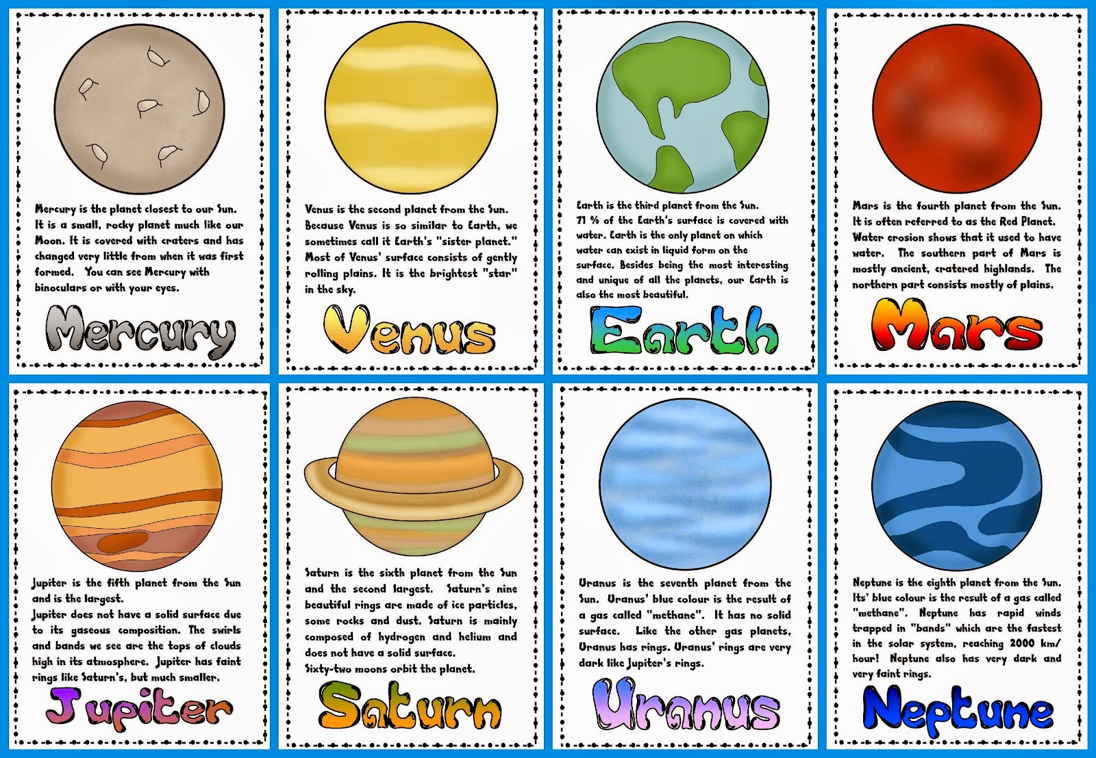 Solar System 3-Part Cards - Gift of Curiosity