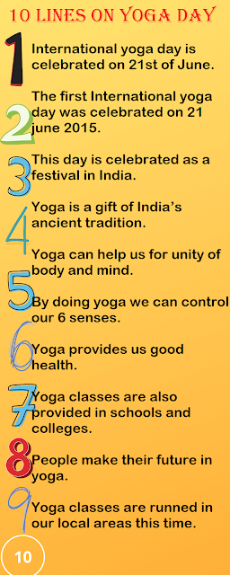 Few Lines on Yoga Day