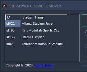 PES 2017 Stadium Server Crowd Remover V1.0.0