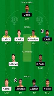 Aus vs Ind 2 T20 dream11 prediction