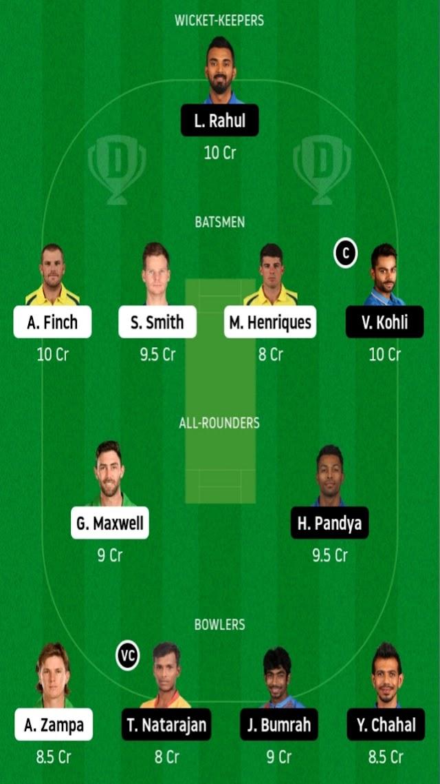 Australia vs india fantasy11 predictions in tamil