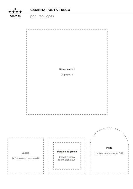 Casinha Porta Trecos Em Feltro Com Molde Para Imprimir Como Fazer