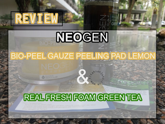NEOGEN BIO-PEEL GAUZE PEELING PAD LEMON & REAK FRESH FOAM GREEN TEA