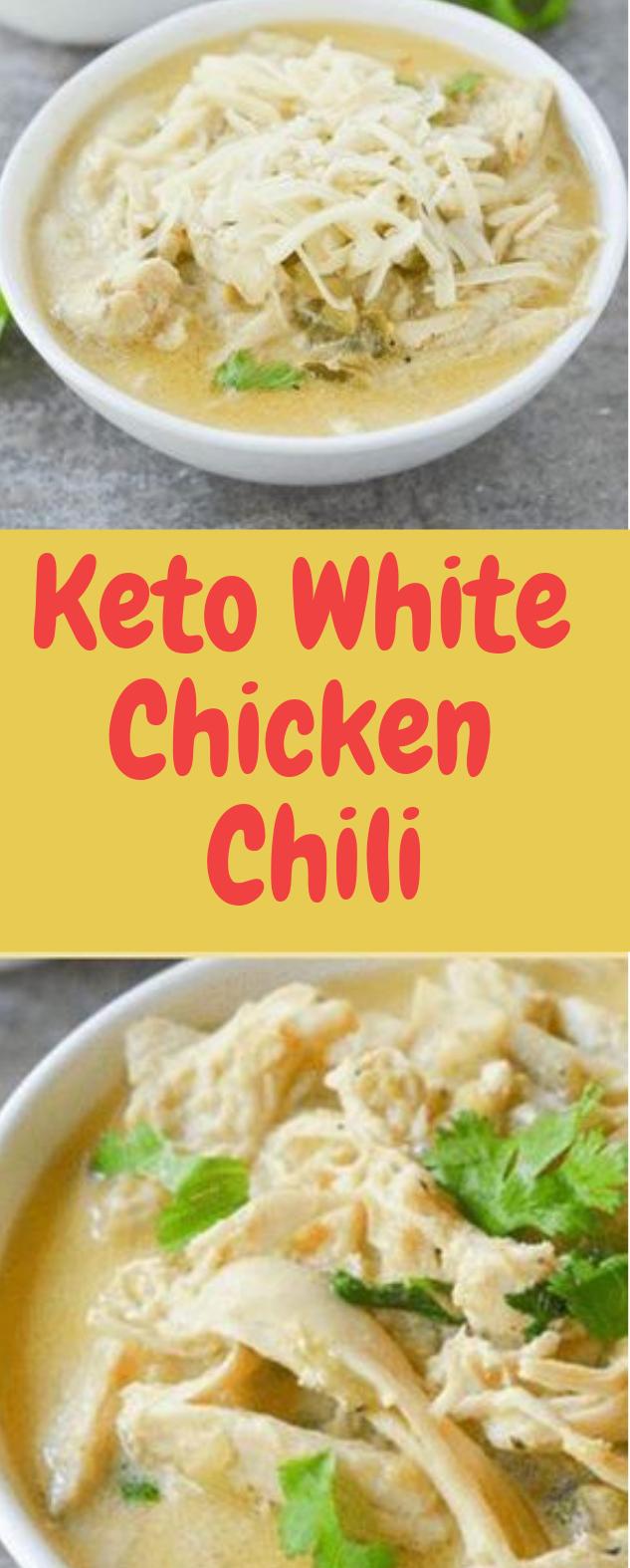 Keto White Chicken Chili #foods #eat healthy
