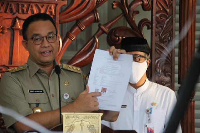 Perketat Mobilitas Masyarakat Keluar Masuk Jakarta, Anies Terbitkan Pergub No 45