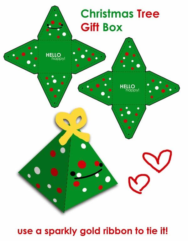 Lindas cajas con forma de Arbol de Navidad. Tutorial con plantilla ...