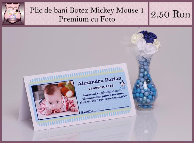set marturii botez Mickey Mouse