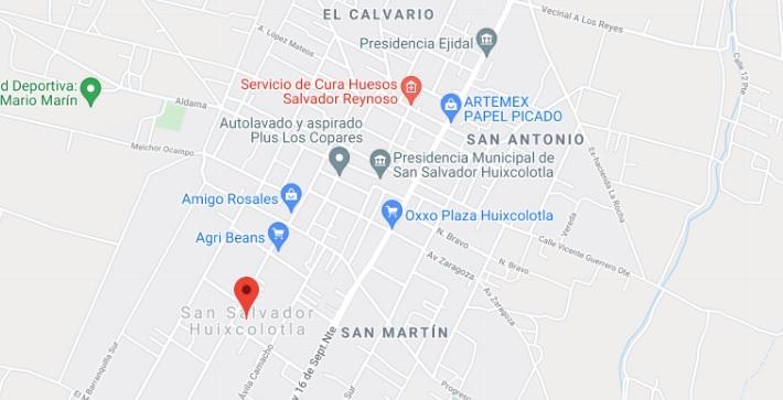 Mapa Digital de Ubicación y como llegar a Huixcolotla