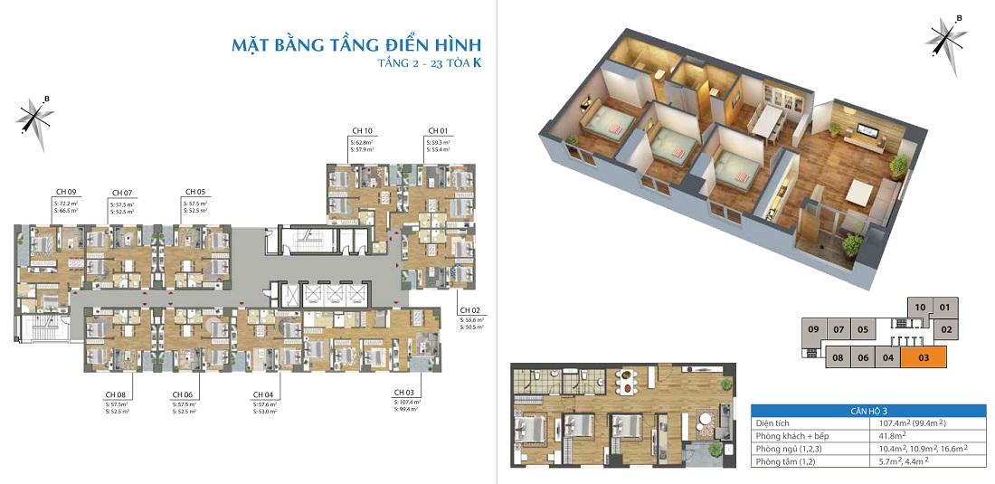 Thiết kế căn hộ Parkview Residence