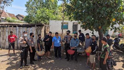 Sabhara Polres Situbondo Grebeg Lokasi Sabung Ayam di Desa Tanjung Kamal