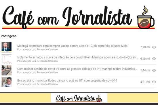 As quatro matérias mais lidas do Café com Jornalista em 2020