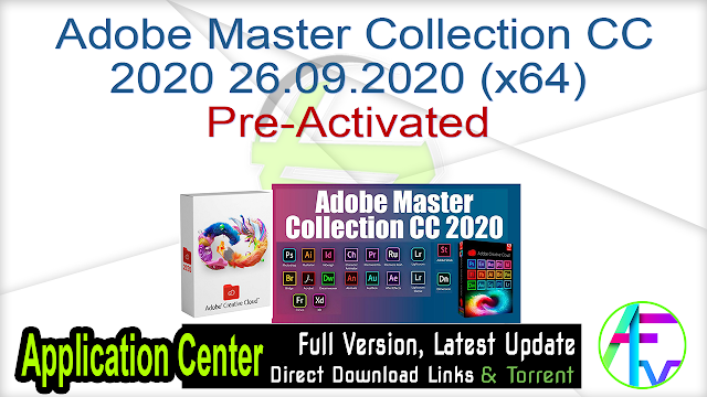 Adobe Master Collection CC 2020 26.09.2020 (x64) Pre-Activated