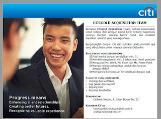Loker Medan S1 Segala Jurusan 2020 Citigold Acquisition Team
