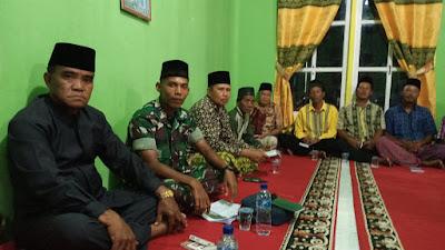 Satgas TMMD ke 105 Kodim 0321/Rohil Hadiri Wirid Yasin di Masjid Nurul Huda