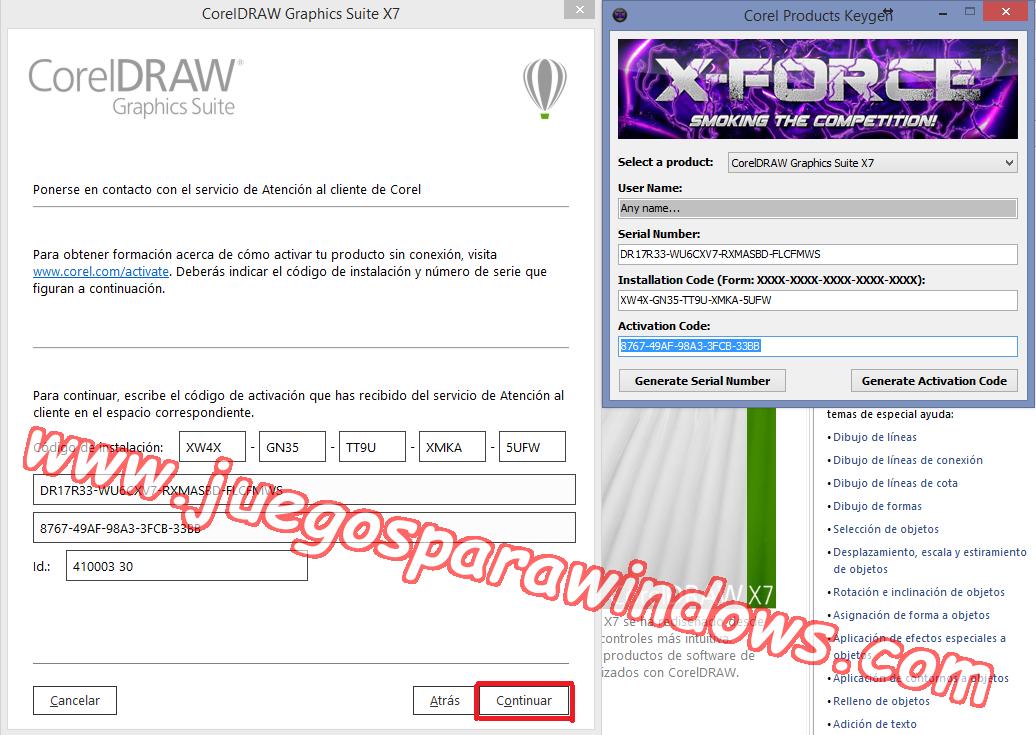 CorelDRAW Graphics Suite X7.3 ESPAÑOL Software De Diseño Gráfico Completo (XFORCE) 7
