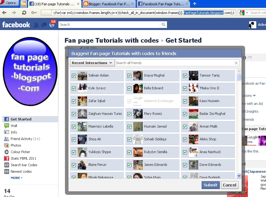 Invite All Your Facebook Friends At Once Facebook Fan Page
