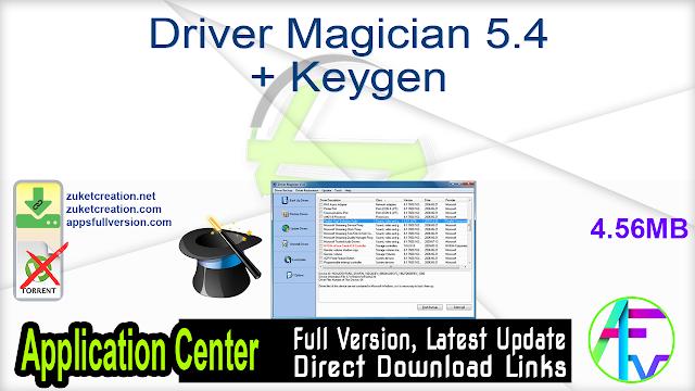 Driver Magician 5.4 + Keygen