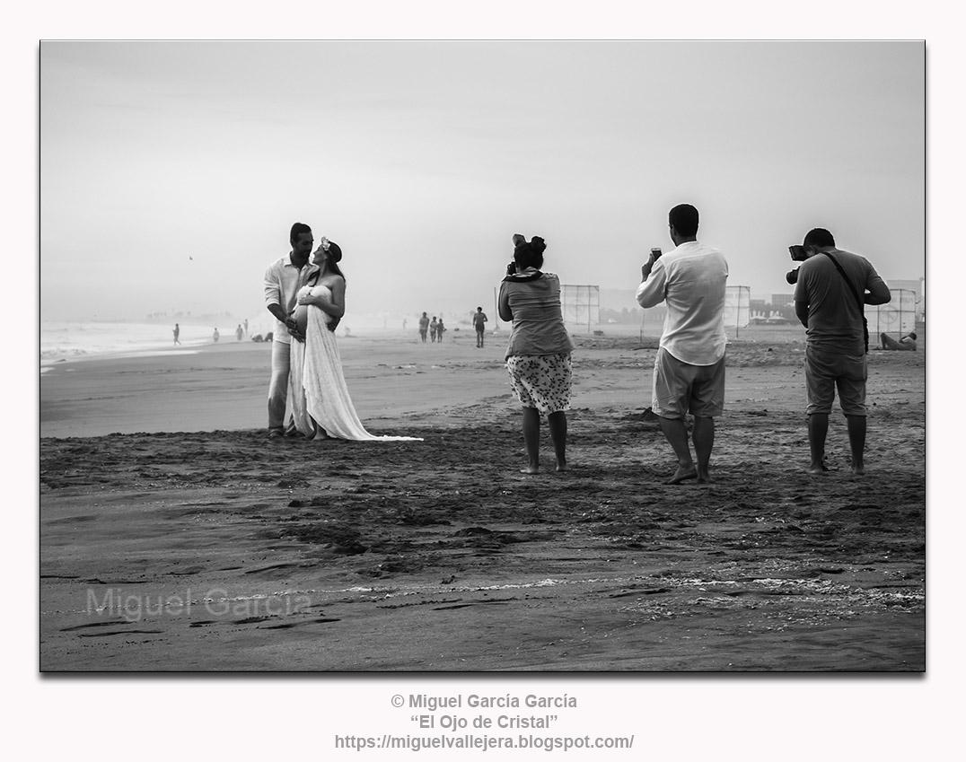 Embarazo en Playa Arica.