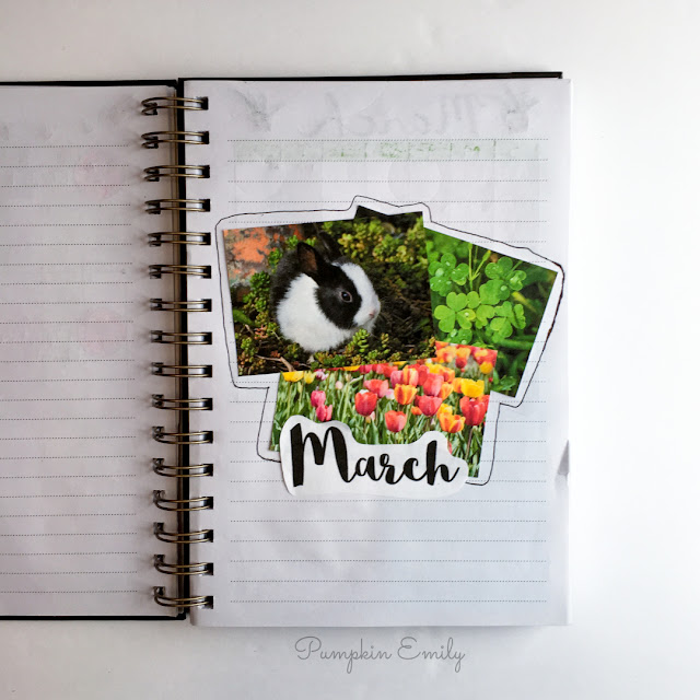 March Cover Page Bullet Journal Setup
