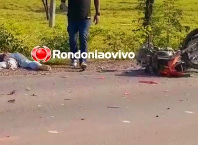TRAGÉDIA: Identificado motociclista que morreu após colisão frontal com carreta na BR-364