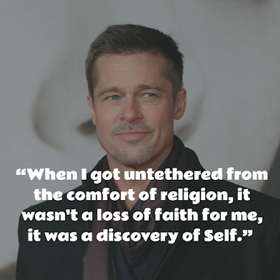 Top Brad Pitt Inspirational Quotes about religion