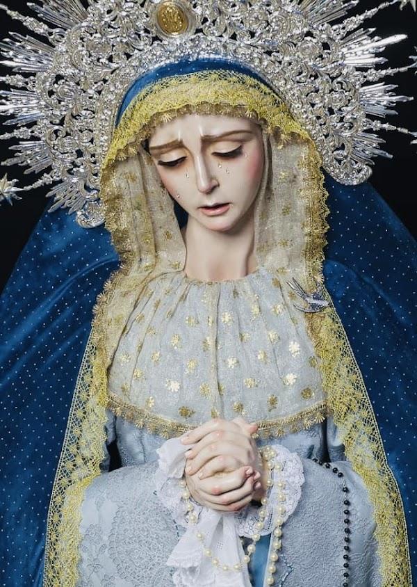 Bendecida en Torrecera la imagen de Mª Stma. de la Soledad