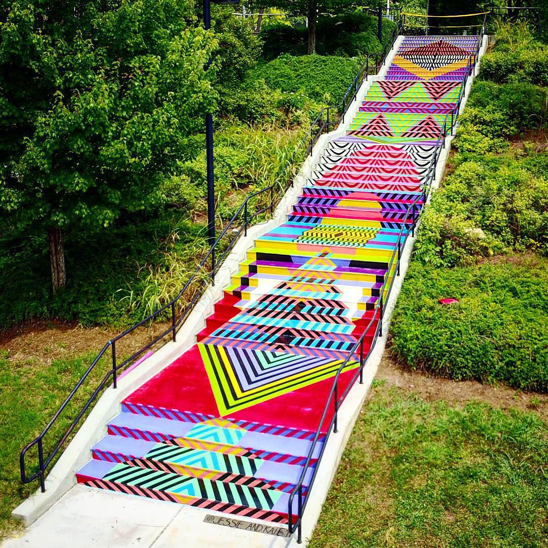 Rebuilding place in the urban space stair mural in knoxville tennessee stair mural in knoxville tennessee greentooth Choice Image