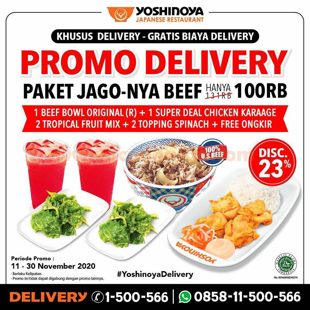 Promo Yoshinoya Delivery: Paket Jago-Nya Beef* Praktis cuma Rp 100.000