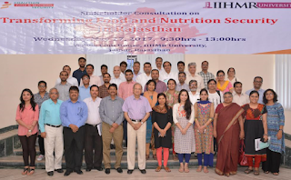 "IIHMR University conducts a stakeholder consultation on ""Transforming Food & Nutrition Security in Rajasthan"""