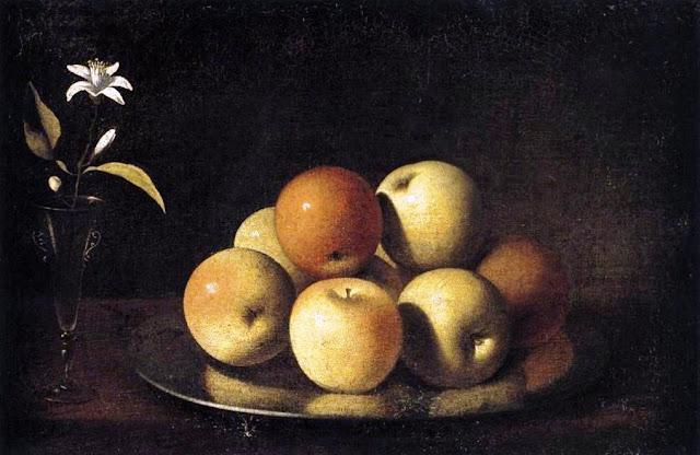 Bodegón con manzanas de Juan de Zurbarán (hacia 1640)