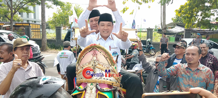 Ajang Pilwakot Metro, Pasangan Non Partai Wa-Ru Serahkan 12.700 Dukungan Rakyat