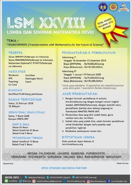 Lomba dan Seminar Matematika XXVIII
