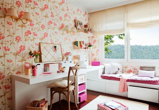 Dormitorios con Paredes Empaleladas o Murales by artesydisenos.blogspot.com