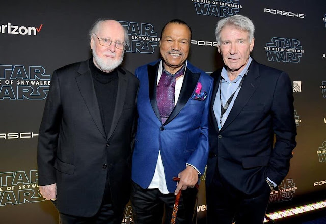 John Williams, Billy Dee Williams and Harrison Ford