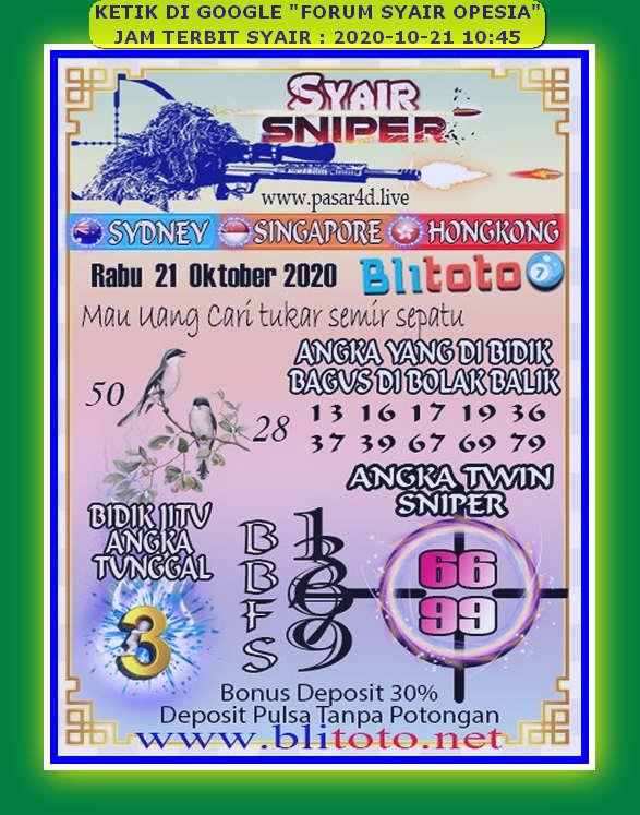 Kode syair Singapore Rabu 21 Oktober 2020 94