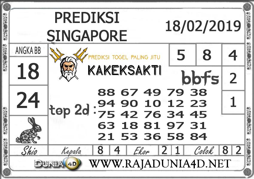 Prediksi Togel SINGAPORE DUNIA4D 18FEBRUARI 2019