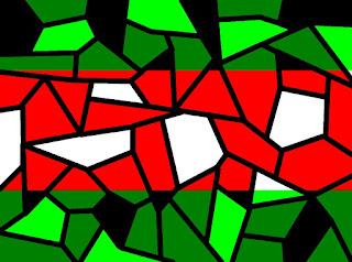 Mosaik mit Rot und Grün