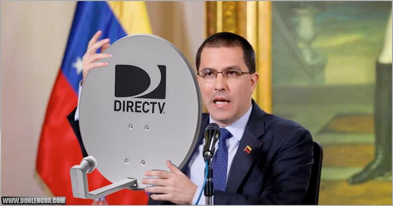 Jorge Arreaza se molestó porque le cortaron el DirecTV