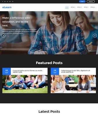 eLearn Education Blogger template