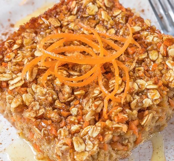 CARROT CAKE BAKED OATMEAL #breakfast #healthy