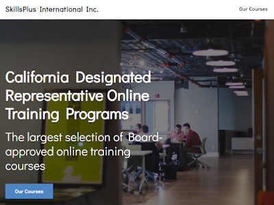 The largest selection of Board-approved California Designated Representative online training programs.