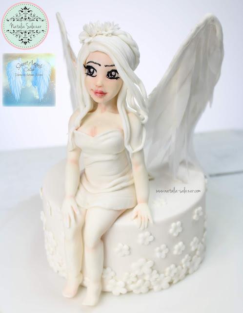 angel en pasta para modelar comestible