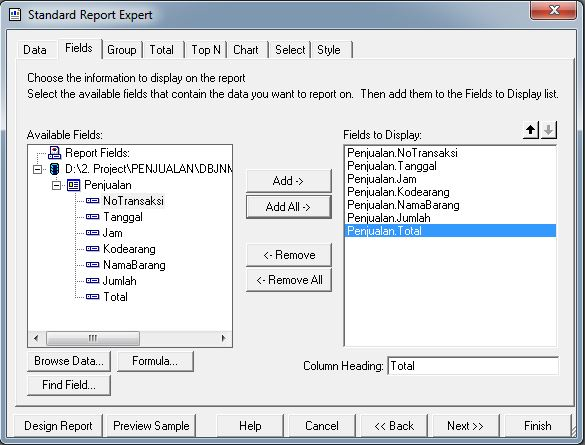 Cara Membuat Laporan Crystal Report Database Access ( .mdb )
