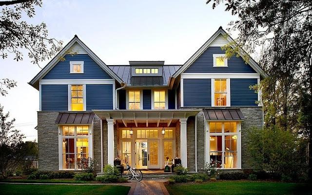 แบบบ้านหน้าจั่วตกแต่งสีสัน